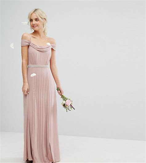 Lyst   Tfnc London Wedding Cold Shoulder Embellished Maxi