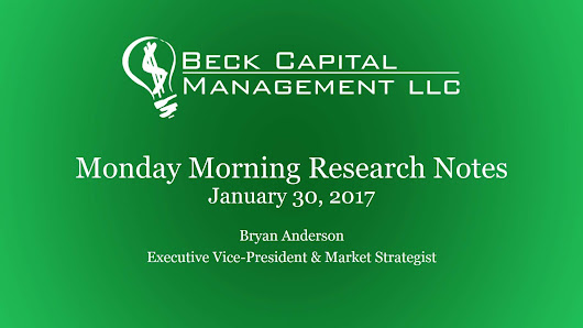 Monday Morning Research Notes - January 30, 2017