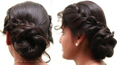 braided bun hairstyles step  step tutorial