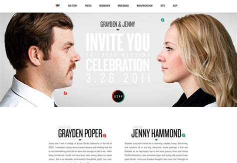 25  wonderful wedding websites   Webdesigner Depot
