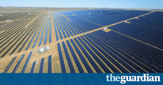 Large-scale solar industry takes off as 12 new plants secure finance | Australia news | The Guardian