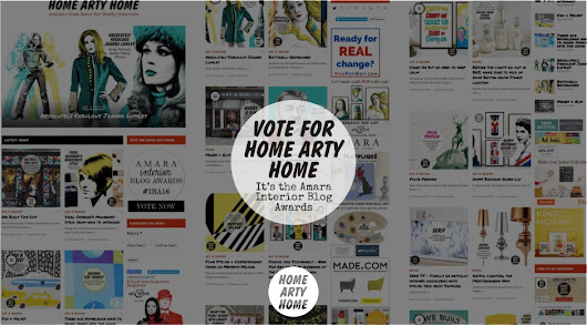 Vote for Home Arty Home! It's the Amara Interior Blog Awards -