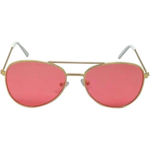 Girls' Aviator Sunglasses - Cat & Jack Pink One Size, Gold