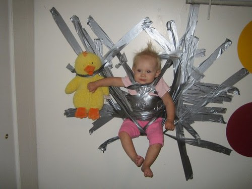 duct tape child