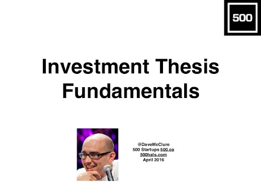 Investment Thesis Fundamentals (April 2016)