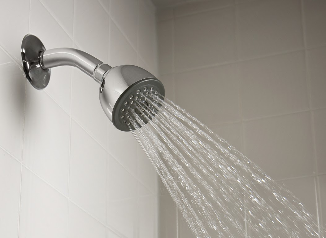 types of shower heads in traditional details with cool water spray