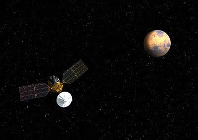 The Mars Reconnaissance Orbiter is scheduled to enter orbit around the Red Planet on Friday, March 10.