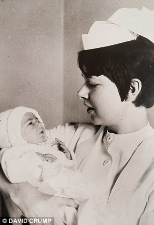 Michelle Rooney (above as a baby with a nurse) has been reunited with the woman who abandoned her in a bin bag as a newborn in 1968