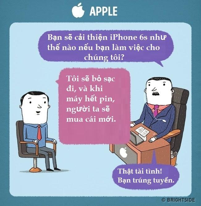 Những cuộc phỏng vấn tuyển dụng siêu hài của Google, Apple...