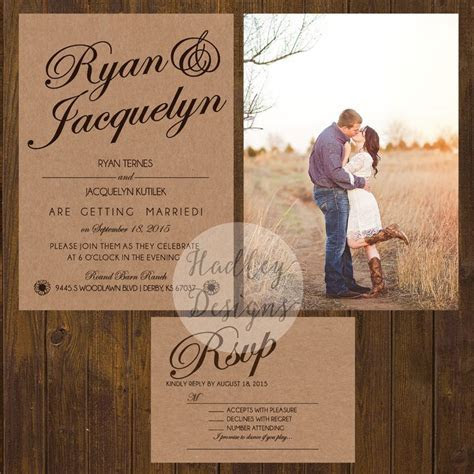 25  best ideas about Western Wedding Invitations on