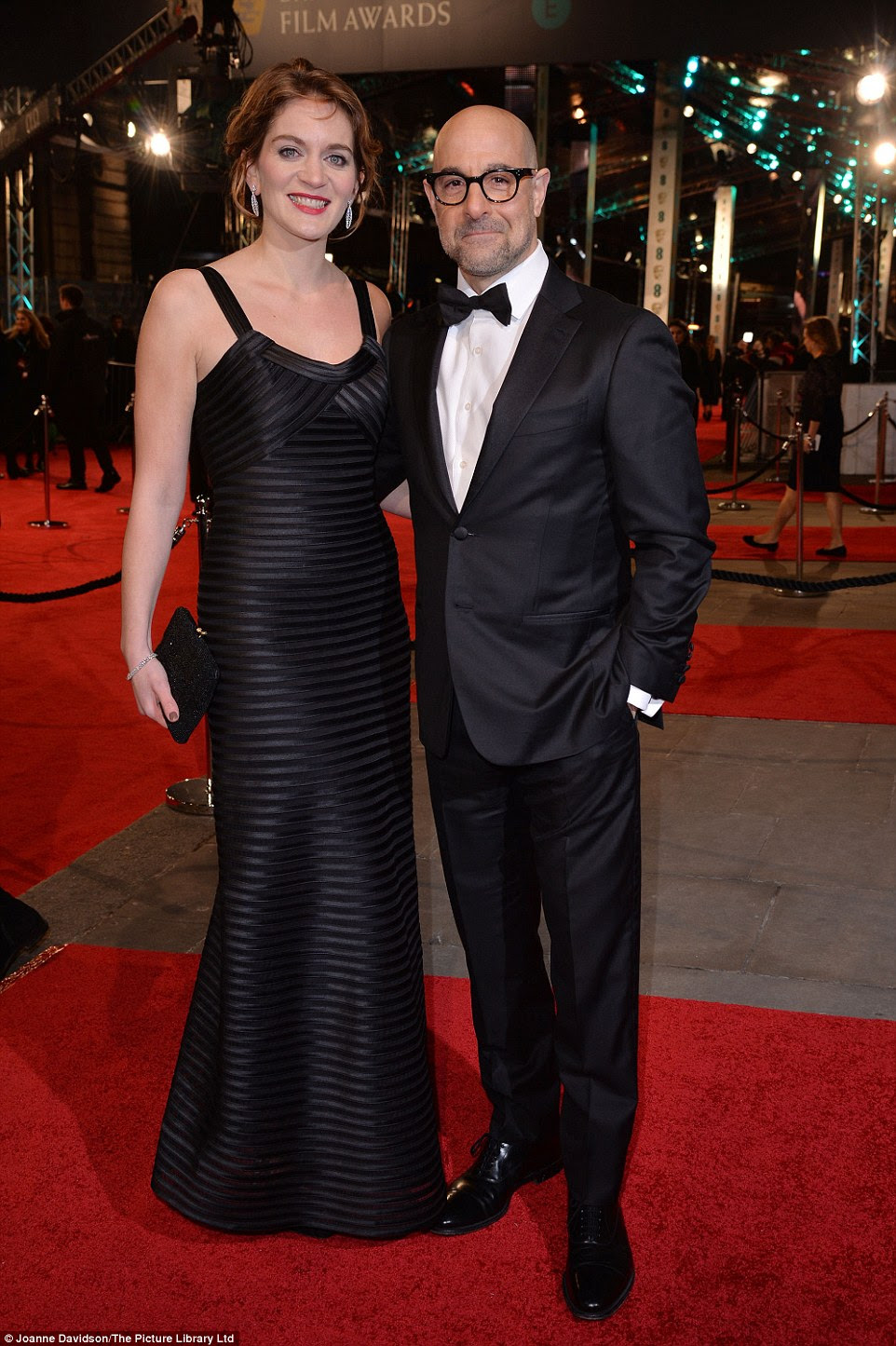 Sweet! Spotlight actor Stanley Tucci arrived on the arm of his lovely wife Felicity Blunt, the sister of actress Emily