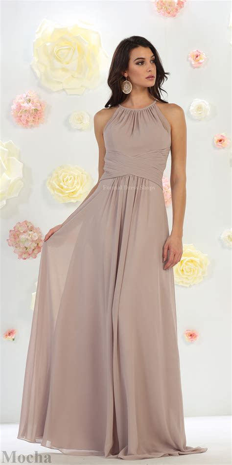 prom long evening maid  honor gown formal simple