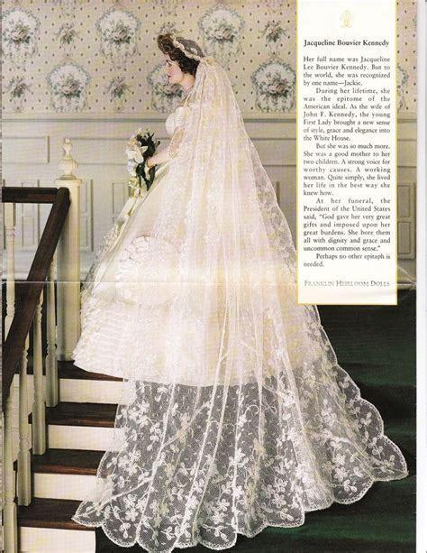 Franklin Mint, Jackie Kennedy wedding dress.   Dolls