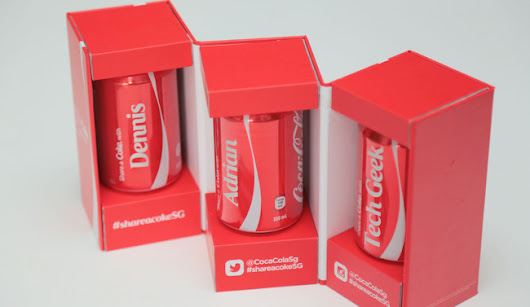 Share A Coke with customisable Coke Cans in Singapore
