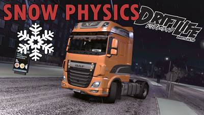 Winter Physics v1.0 edited 1.33 | ETS2 Mods