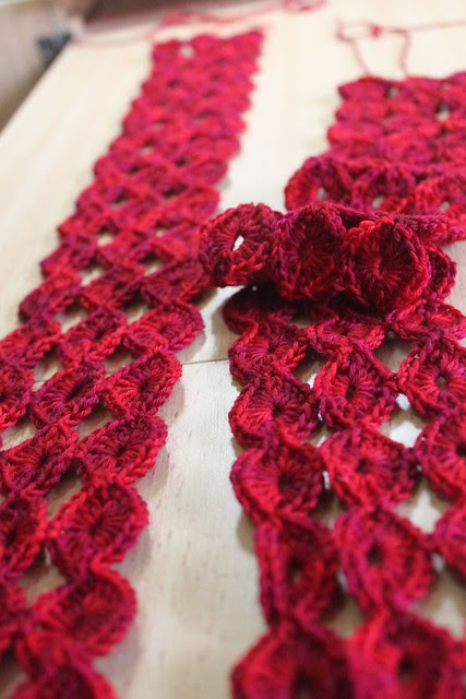 Circles scarf - WIP