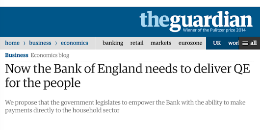 Now the Bank of England needs to deliver QE for the people (Guardian) - Positive Money