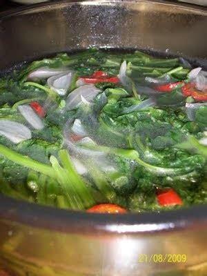 koleksi resepi terhebat nusantara sayur air bayam  labu