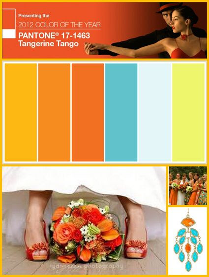 Add a punch of color to your wedding with this Pantone color scheme!  #weddingstyle