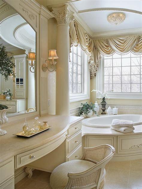 beautiful master bathroom  ornate column hgtv