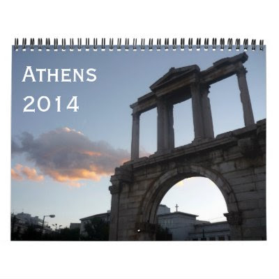 athens 2014 wall calendar from Zazzle.com