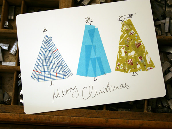 taped christmas card