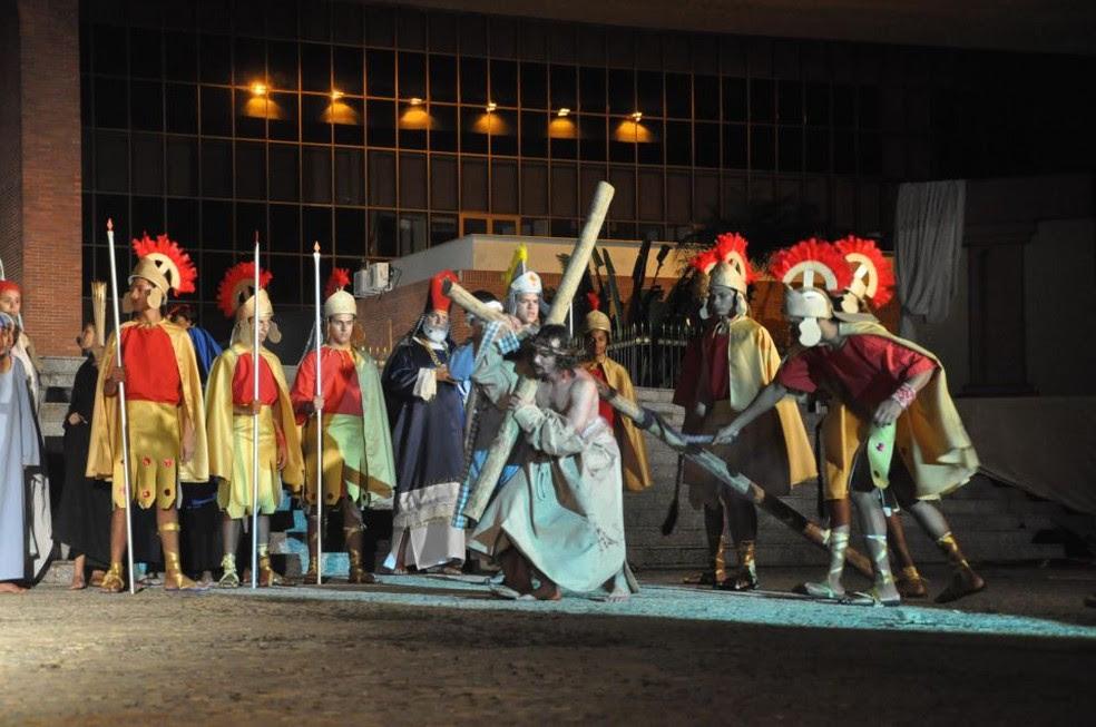 Companhia segue recrutando figurantes para a encenação da Paixão de Cristo em Palmas (Foto: Divulgação/Cia Art'Sacra)