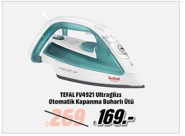 TEFAL FV4921 Ultragliss Otomatik Kapanma Buharlı Ütü 169TL