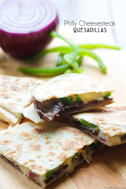 Philly Cheesesteak Quesadillas | Mandy's Recipe Box