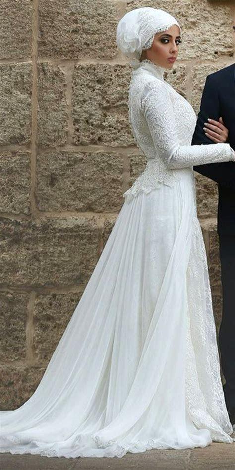 High Neck Muslim Wedding Dress   Sexy Women's Bridal Gowns