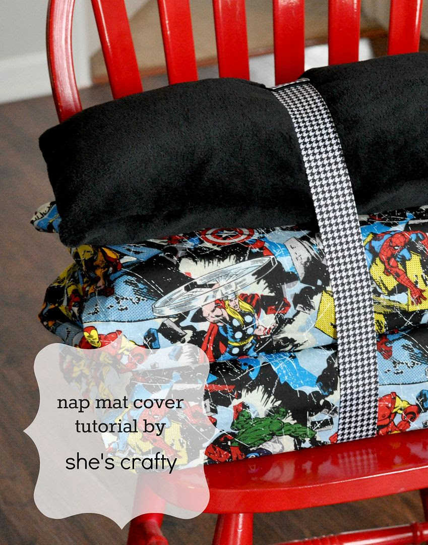 a tutorial to personalize a nap mat cover