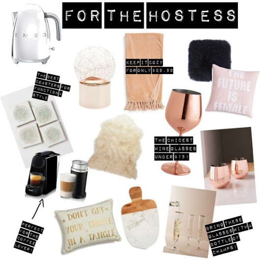 Gift Guide | Hostess + Home Gift Ideas -