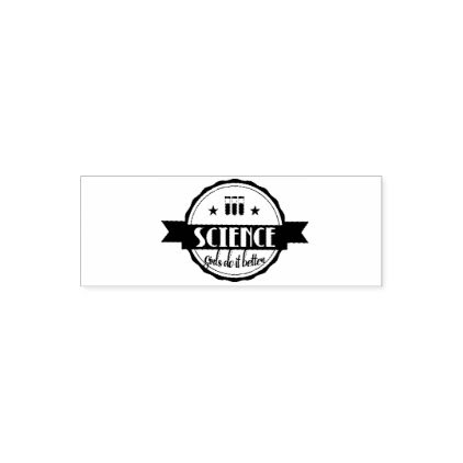 Science. Girls Do It Better Self-inking Stamp