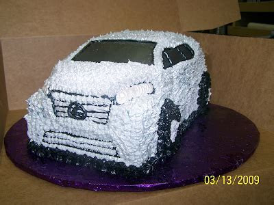 Silver Lexus SUV 3D Cake   Just 4 U Bakery