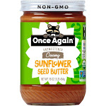 Once Again Creamy Sunflower Seed Butter - Unsweetened Free | 16 oz Jar