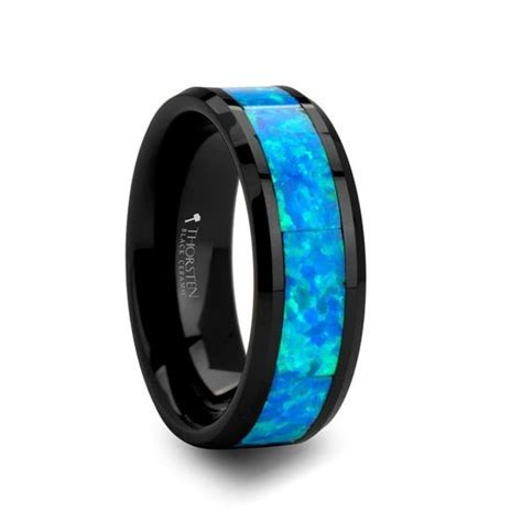 Green opal, Wedding band for men and Tungsten wedding band