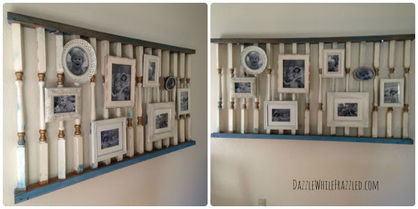 repurposed railing photo display TotT8