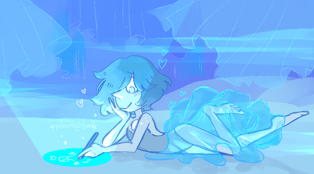 blue pearl loves to draw! (no one can take this headcanon away from me, it's perfect)