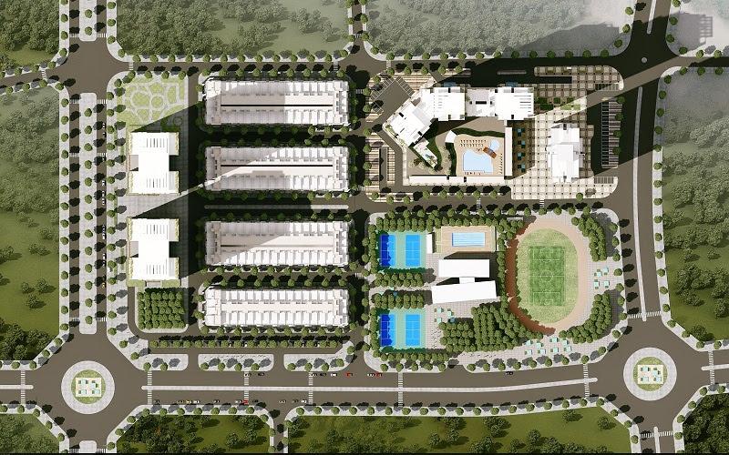 Tổng thể lô đất của khu tổ hợp Hải Đăng City