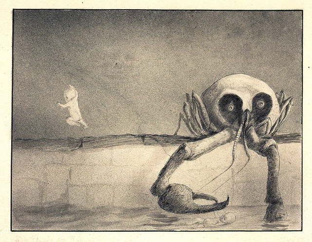Alfred Kubin - The Moment Of Birth, 1901-02