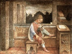 The Young Cicero Reading, 1464 fresco, now at ...
