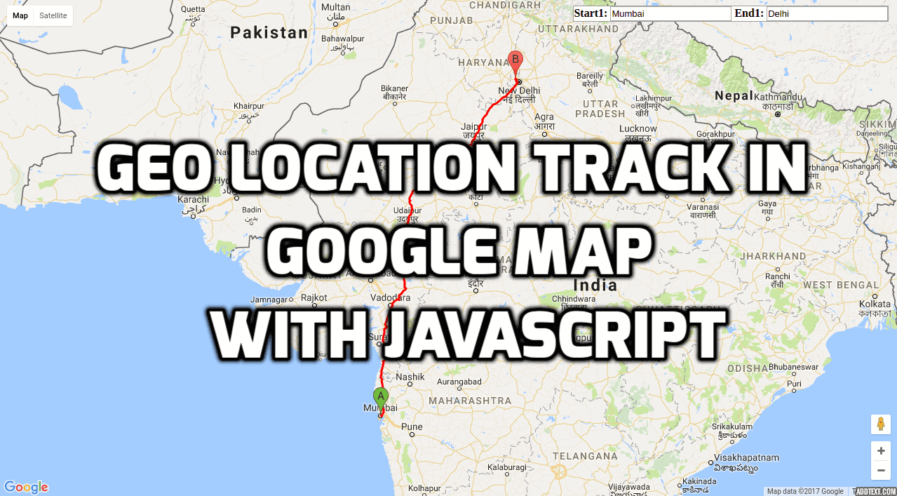 Geo Location Track In Google Map With Javascript Laravelcode