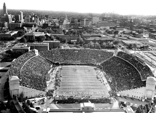 In 1964, a record of crowd of 47,874 fans jammed into Memorial Stadium at the University of Nebraska-Lincoln to watch the Huskers defeat South Carolina 28-6. THE WORLD-HERALD