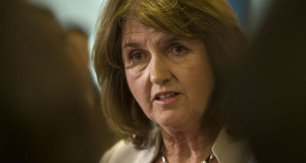 Tánaiste Joan Burton calls on Sinn Féin to withdraw its manifesto pledge to  get rid of  jury-free court. Photograph: Dara Mac Dónaill