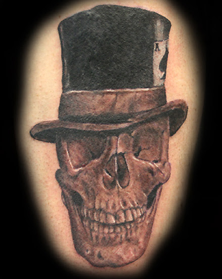 Skulls With Top Hat Tattoos : skulls, tattoos, Skull, Tophat, Tattoo, Gallery, Collection
