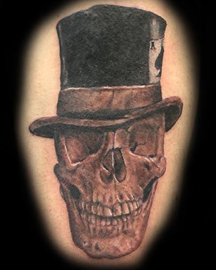 Skulls With Top Hat Tattoos : skulls, tattoos, Skull, Tophat, Tattoo, Gallery, Collection