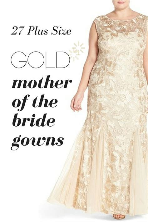 Discover Plus Sized Gold Mother of the Bride Gowns   Plus