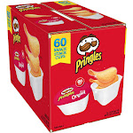 Pringles Potato Chips, The Original - 60 pack, 0.67 oz tubs