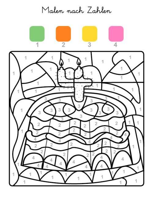 ausmalbild blumentopf  cartoonbild