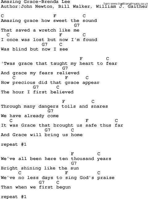 This Is Amazing Grace Lyrics And Chords Key Of C
